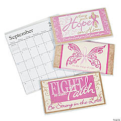2014 - 2015 Breast Cancer Awareness Religious Pocket Planners