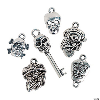 Day of the dead charms charms jewelry making craft for Day of the dead craft supplies
