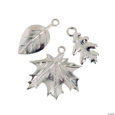 Silvertone Leaf Charms