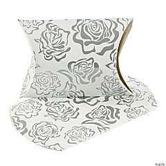 Silver Rose Pillow Boxes