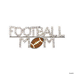 "Rhinestone ""Football Mom"" Pin"