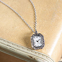 Vintage Timepiece Necklace
