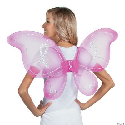 Hot Pink Breast Cancer Awareness Butterfly Wings