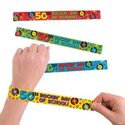 50 Days of School Slap Bracelets