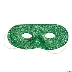 Green Glitter Masks