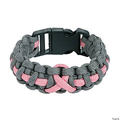 Women's Pink Ribbon Paracord Bracelets