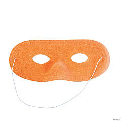 Plastic Orange Glitter Masks