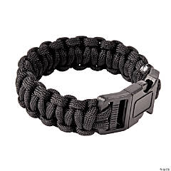 Large Black Paracord Bracelets