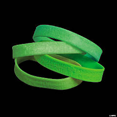 Glow in the Dark Faith Rubber Bracelets