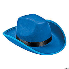 Polyester Adult's Blue Cowboy Hat