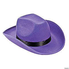 Polyester Adult's Purple Cowboy Hat