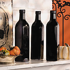 Black Bottle Vases