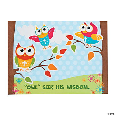 Inspirational Owl Mini Sticker Scenes