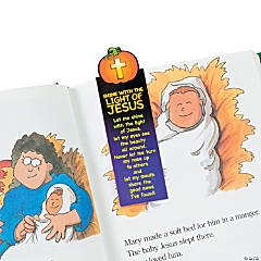 Christian Pumpkin Inspirational Magnetic Bookmarks