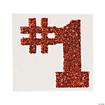 #1 Orange Glitter Tattoo Stickers