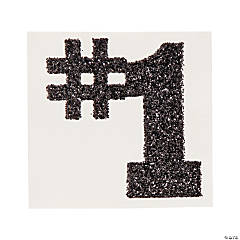 #1 Black Glitter Tattoo Stickers