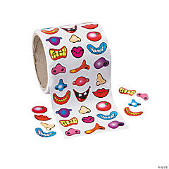 Nose & Mouth Roll of Stickers