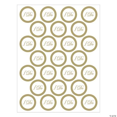 """I Do"" Wedding Envelope Seals"