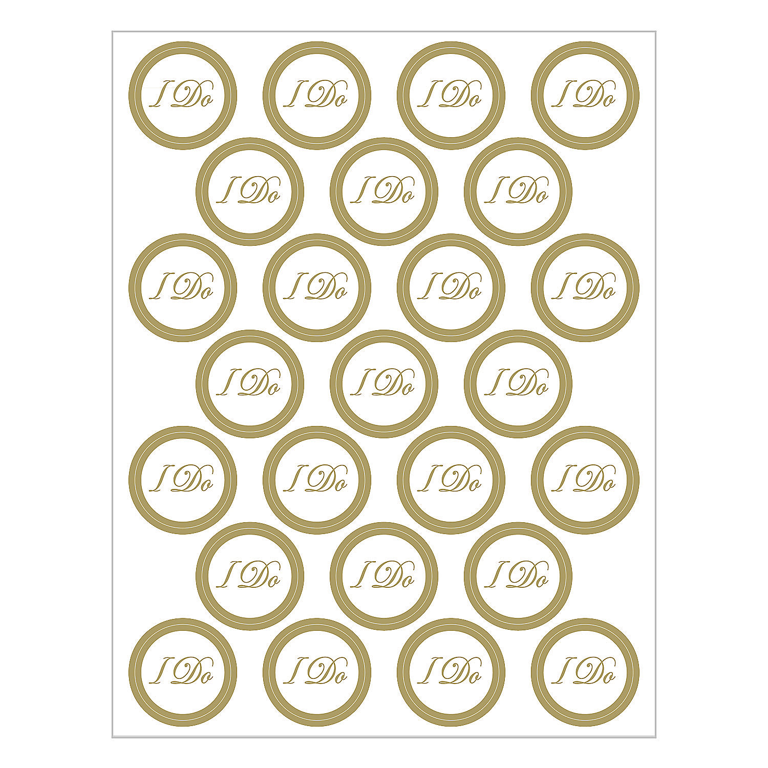 "Graduation Envelopes Seals ""i Do"" Wedding Envelope Seals"