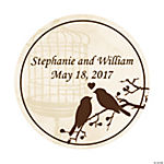 Personalized Love Birds Wedding Favor Stickers - 2