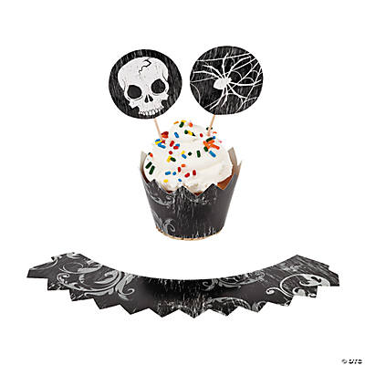 Spooky Soiree Cupcake Wrappers with Picks