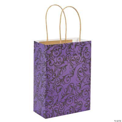 Purple & Black Kraft Bags