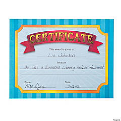 Award Certificate Notebook Tablets
