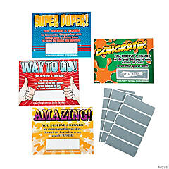 Paper Scratch-Off Reward Cards