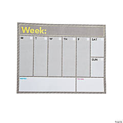 Weekly Planning Notepad Calendar