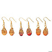 Teardrop Wire Wrapped Fall Earring Kit