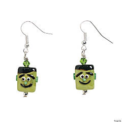 Green Monster Lampwork Earring Kit