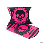 Mini Pink & Black Skull Pillow Boxes