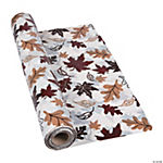 Plastic Fall Leaves Tablecloth Roll