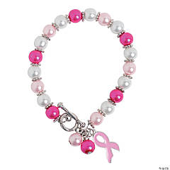 Breast Cancer Awareness Pearl Bracelet Craft Kit