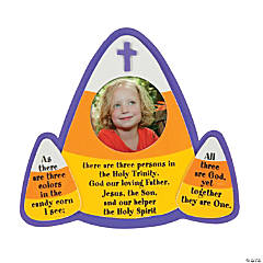 Candy Corn Trinity Picture Frame Magnet Craft Kit