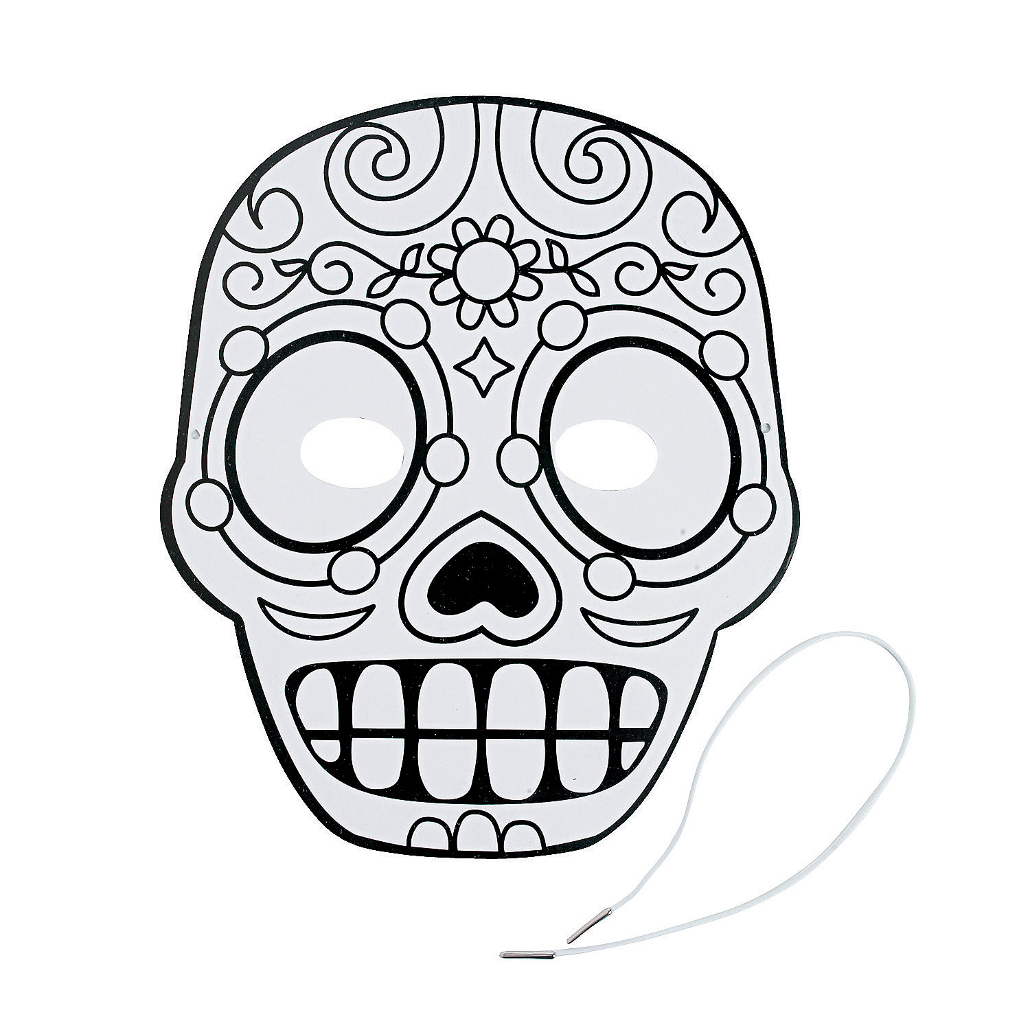 Color Your Own Day of the Dead Masks - Oriental Trading