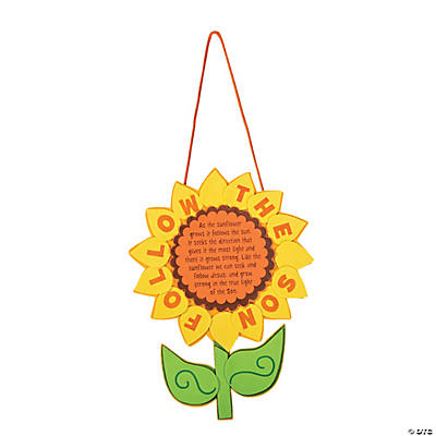 """Follow the Sun"" Sunflower Sign Craft Kit"