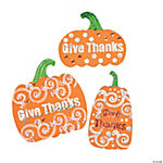 """Give Thanks"" Foam Pumpkins"