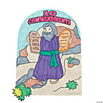 Color Your Own Moses & the Ten Commandments