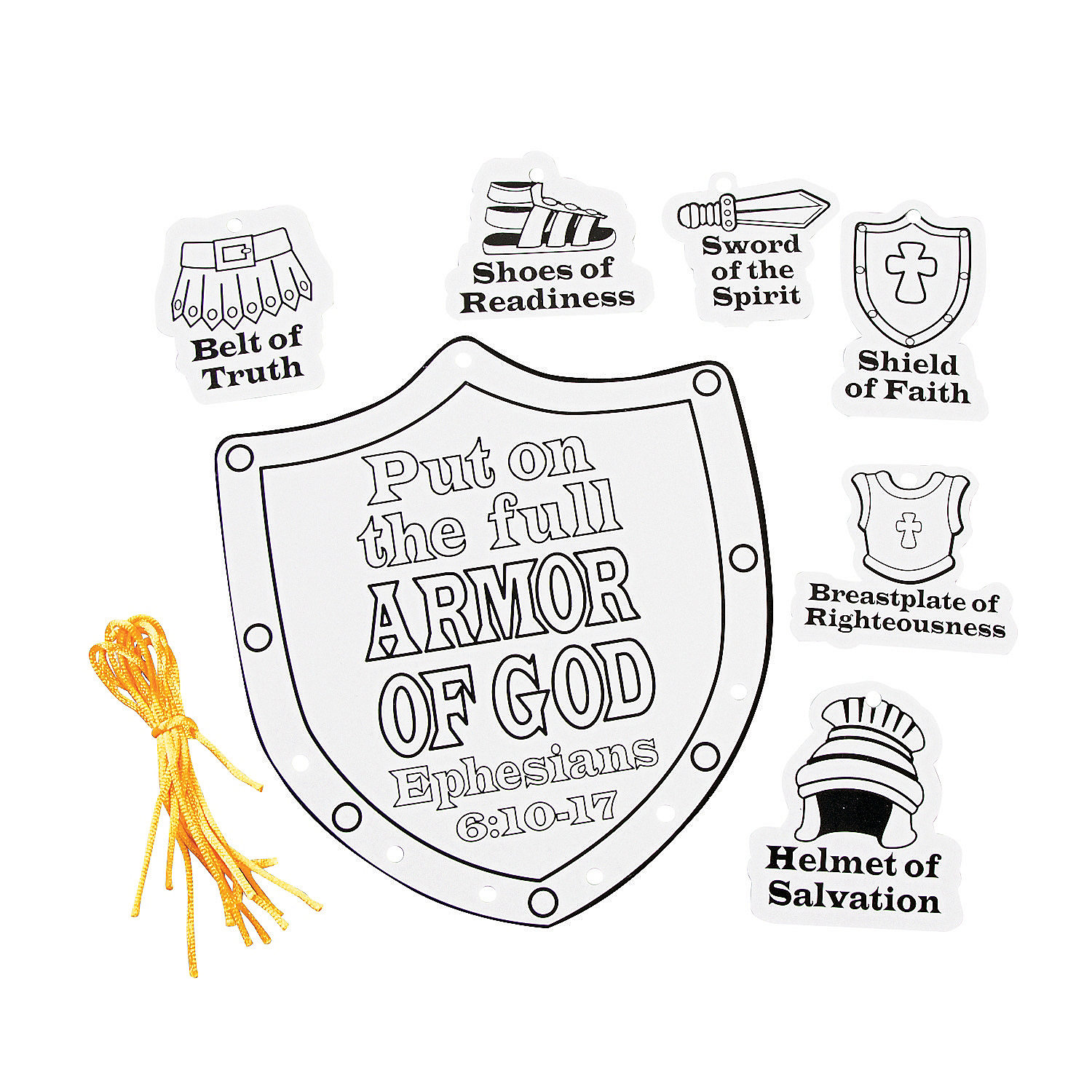 Color your own armor of god mobile craft kit oriental trading