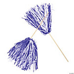 Purple & White Two-Tone Spirit Pom-Poms