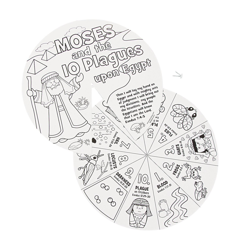 Moses Ten Plagues Wheel Craft