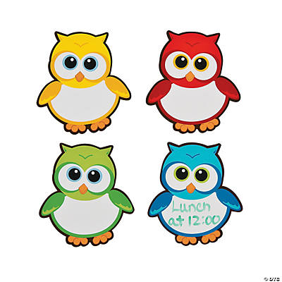 Owl Dry Erase Magnets