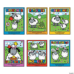 """Virtues For Ewe"" Inspirational Posters"
