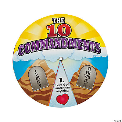 Ten Comandments Learning Wheels