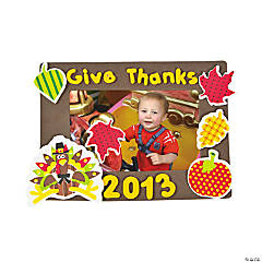 Thanksgiving 2014 Picture Frame Magnet Craft Kit