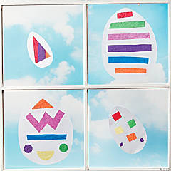DIY Stained Glass Easter Eggs Idea