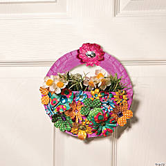Paper Plate May Day Baskets Idea