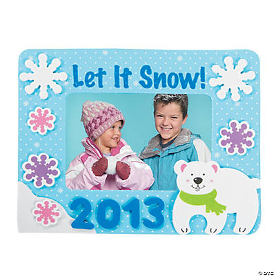 """2013"" Winter Picture Frame Magnet Craft Kit"