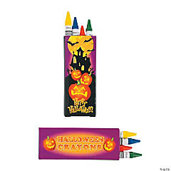 4-pc. Haunted House Halloween Crayons